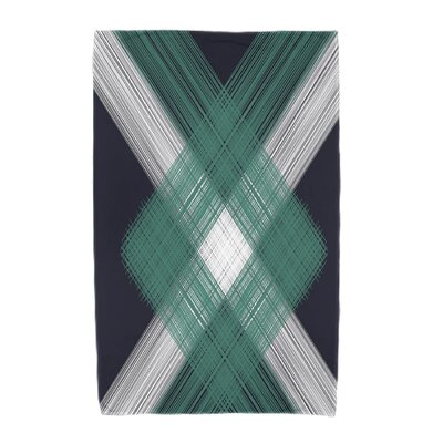 Hancock Geometric 1 Beach Towel Color: Navy Blue