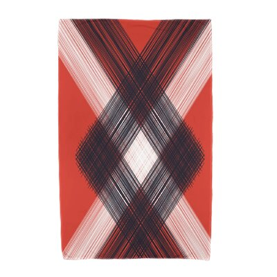 Hancock Geometric 1 Beach Towel Color: Orange