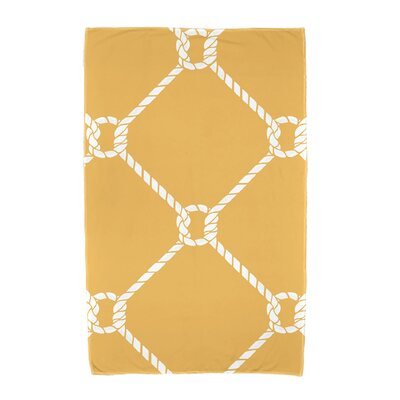 Bridgeport Ahoy! Geometric Print Beach Towel Color: Yellow