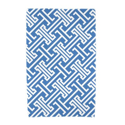 Hancock Leeward Key Geometric Print Beach Towel Color: Blue