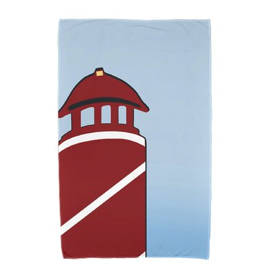 Hancock Safe Harbor Geometric Print Beach Towel Color: Red