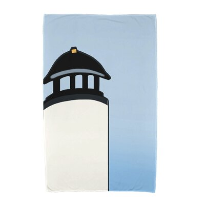 Hancock Safe Harbor Geometric Print Beach Towel Color: White