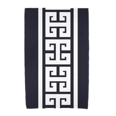 Hancock Key Stripe Beach Towel Color: Navy Blue