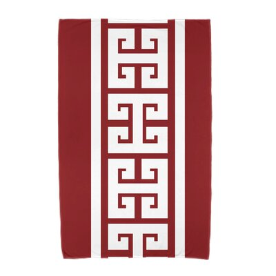 Hancock Key Stripe Beach Towel Color: Red