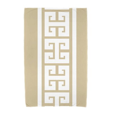 Hancock Key Stripe Beach Towel Color: Beige/Taupe