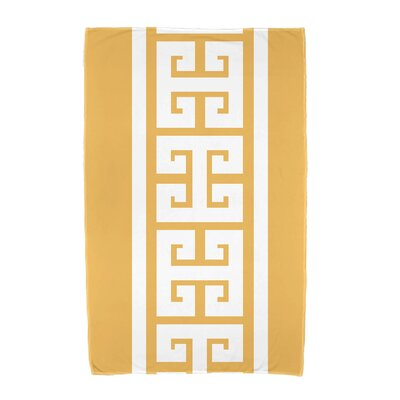 Hancock Key Stripe Beach Towel Color: Yellow
