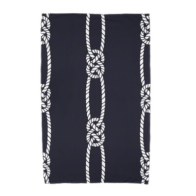 Hancock Tom Foolery Beach Towel Color: Navy Blue