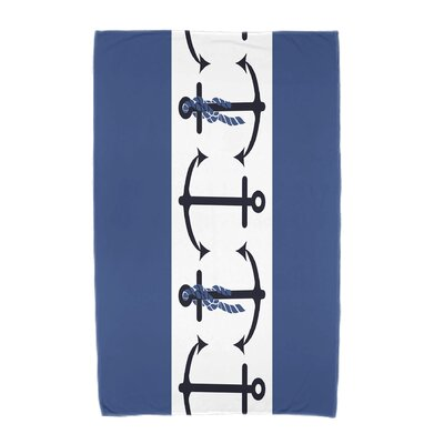 Hancock Anchor Beach Towel Color: Blue