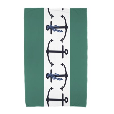Hancock Anchor Beach Towel Color: Green