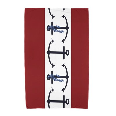 Hancock Anchor Beach Towel Color: Red