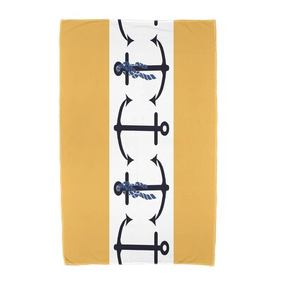 Hancock Anchor Beach Towel Color: Yellow
