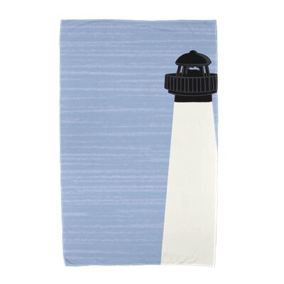 Hancock Light House Beach Towel Color: Cream/Off White