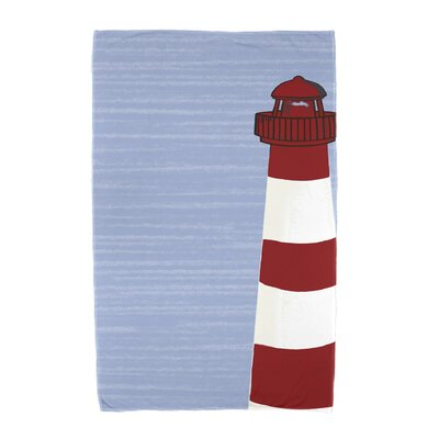 Hancock Light House Beach Towel Color: Red