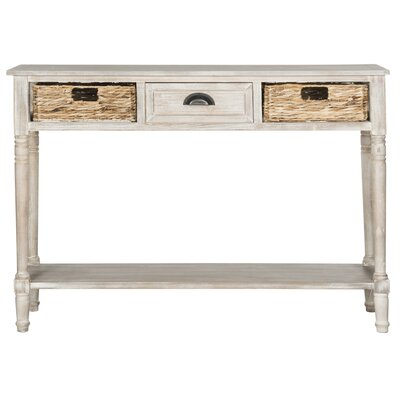 Deepwater 1 Drawer Console Table Finish: Vintage White
