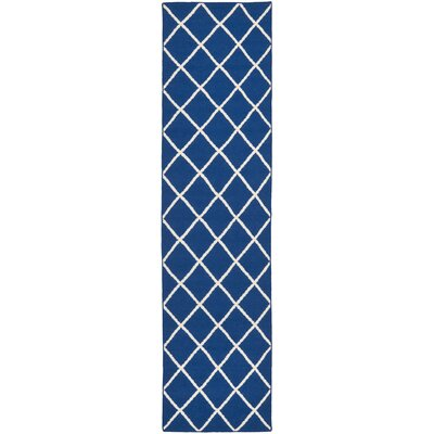 Beacon Falls Hand-Woven Dark Blue Area Rug Rug Size: Runner 2'6