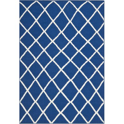 Blaisdell Hand-Woven Dark Blue Area Rug Rug Size: Rectangle 5 x 8