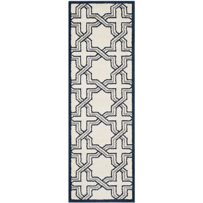 McArthur Ivory/Navy Indoor/Outdoor Area Rug Rug Size: Runner 23 x 7