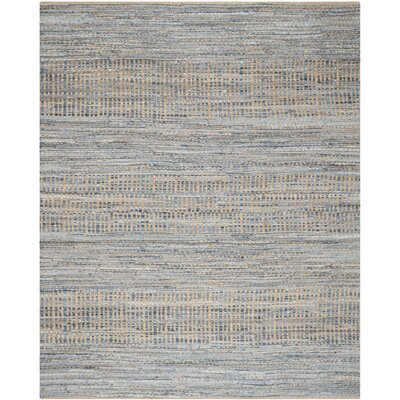 Cromwell Hand-Woven Natural/Blue Area Rug Rug Size: 9 x 12