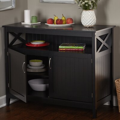 Caratunk Server with Wooden Top Finish: Black