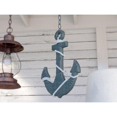 Ship Anchor and Rope Wall Décor