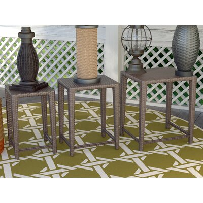 Cushing 3 Piece Wicker Side Table Set
