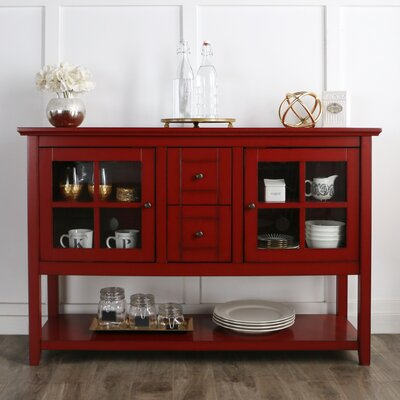 Sylar 52 TV Stand Color: Red