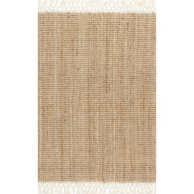 Cannon Hand-Woven Natural Area Rug Rug Size: 3' x 5'