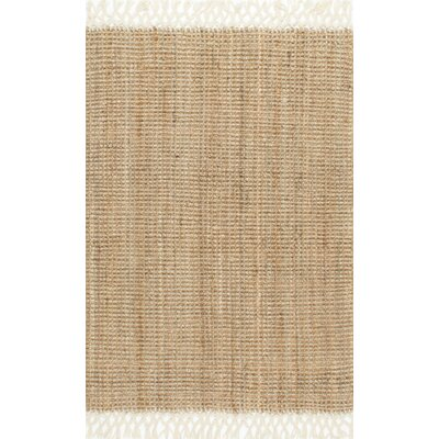 Cannon Hand-Woven Natural Area Rug Rug Size: 6' x 9'