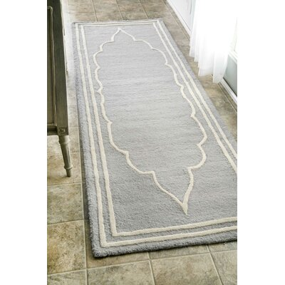 Mayhews Gray Area Rug Rug Size: Runner 26 x 8