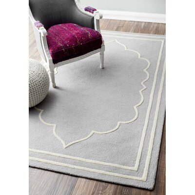 Mayhews Gray Area Rug Rug Size: Rectangle 6 x 9