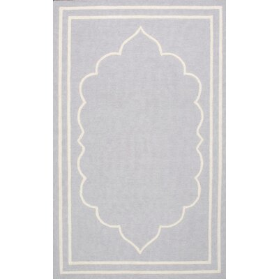Mayhews Gray Area Rug Rug Size: 7'6
