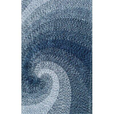 Salina Hand-Tufted Blue Area Rug Rug Size: 76 x 96