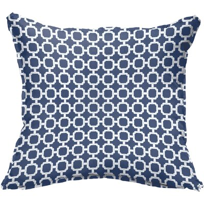 Peletier Flange Square Indoor/Outdoor Throw Pillow Size: 18 x 18