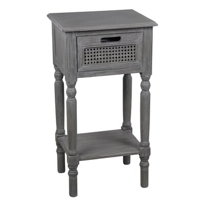 Meddebemps 1 Drawer End Table Color: Slate Gray