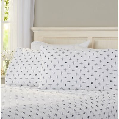Serena 200 Thread Count 100% Cotton Sheet Set Size: Queen