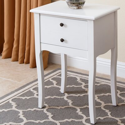 Corkey South Tea End Table Color: White