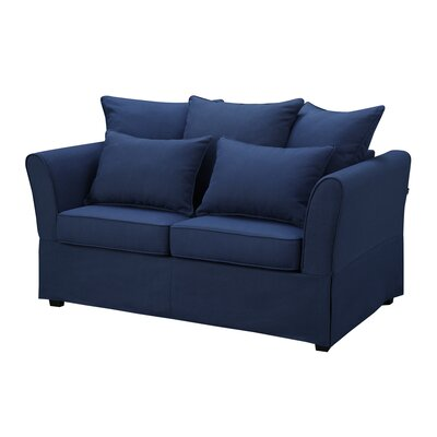 Ellington Loveseat Upholstery: Nautical Blue