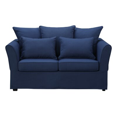 Azucena Loveseat Upholstery: Nautical Blue