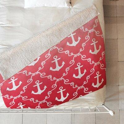 Denton Nautical Knots Ombre Fleece Throw Blanket Size: 80 L x 60 W