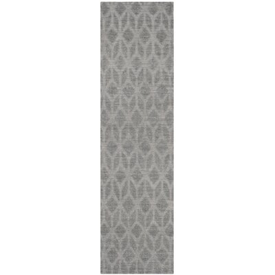 Gilchrist Hand-Woven Grey/Gold Area Rug Rug Size: Runner 23 x 8