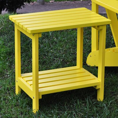 Arcel Rectangular Cedar Side Table Finish: Lemon Yellow