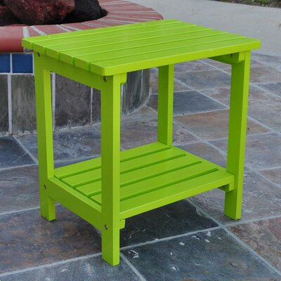 Arcel Rectangular Cedar Side Table Finish: Lime Green