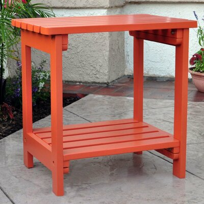 Benedicta Rectangular Cedar Side Table Finish: Rust