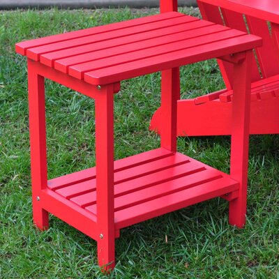 Arcel Rectangular Cedar Side Table Finish: Tomato Red