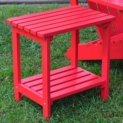 Benedicta Rectangular Cedar Side Table Finish: Tomato Red