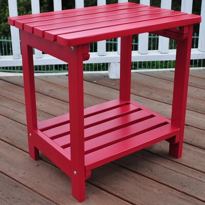 Arcel Rectangular Cedar Side Table Finish: Chili Pepper