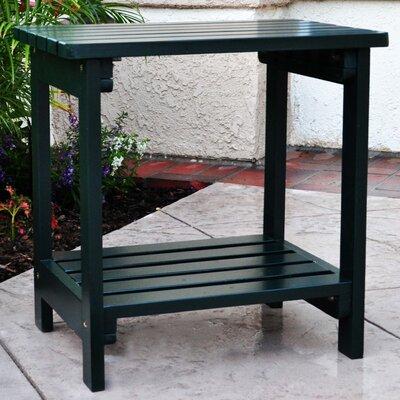 Benedicta Rectangular Cedar Side Table Finish: Dark Green