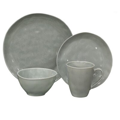 Surry Summit Lake 16 Piece Dinnerware Set Color: Gray