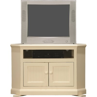 Didier Corner 43 TV Stand Door Type: Plain Glass, Color: Burnt Cinnamon