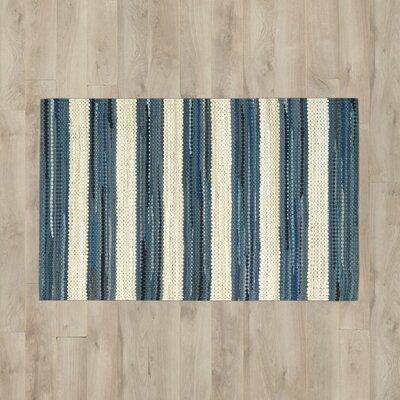 Mayfair Stripe Blue/Cream Area Rug